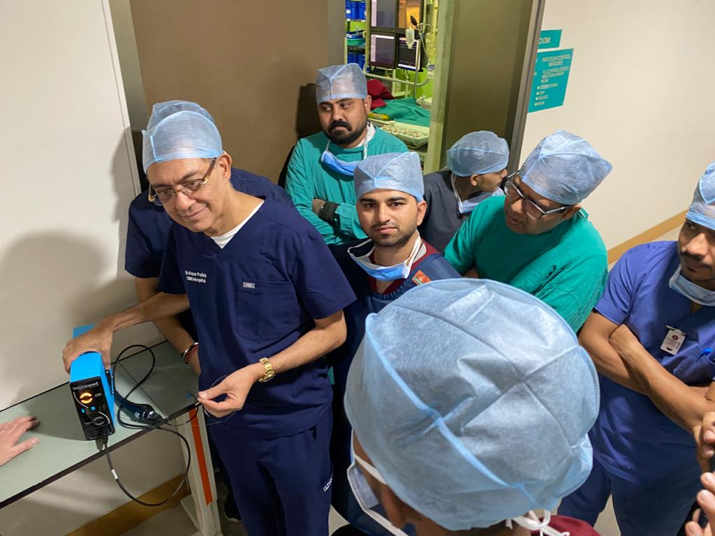 FIRST IN INDIA TRANSRADIAL CASE OF SHOCKWAVE INTRAVASCULAR LITHOTRIPSY
