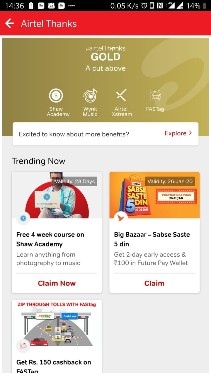"Airtel rolls out Big Bazaar's ""SabseSaste 5 Din"" for Airtel Thanks customers"