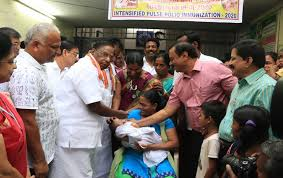 Nationwide programme to administer polio drops to children organized on National Immunization Day