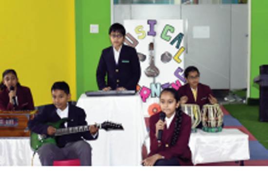 Music Morning celebrated in Neerja Modi School