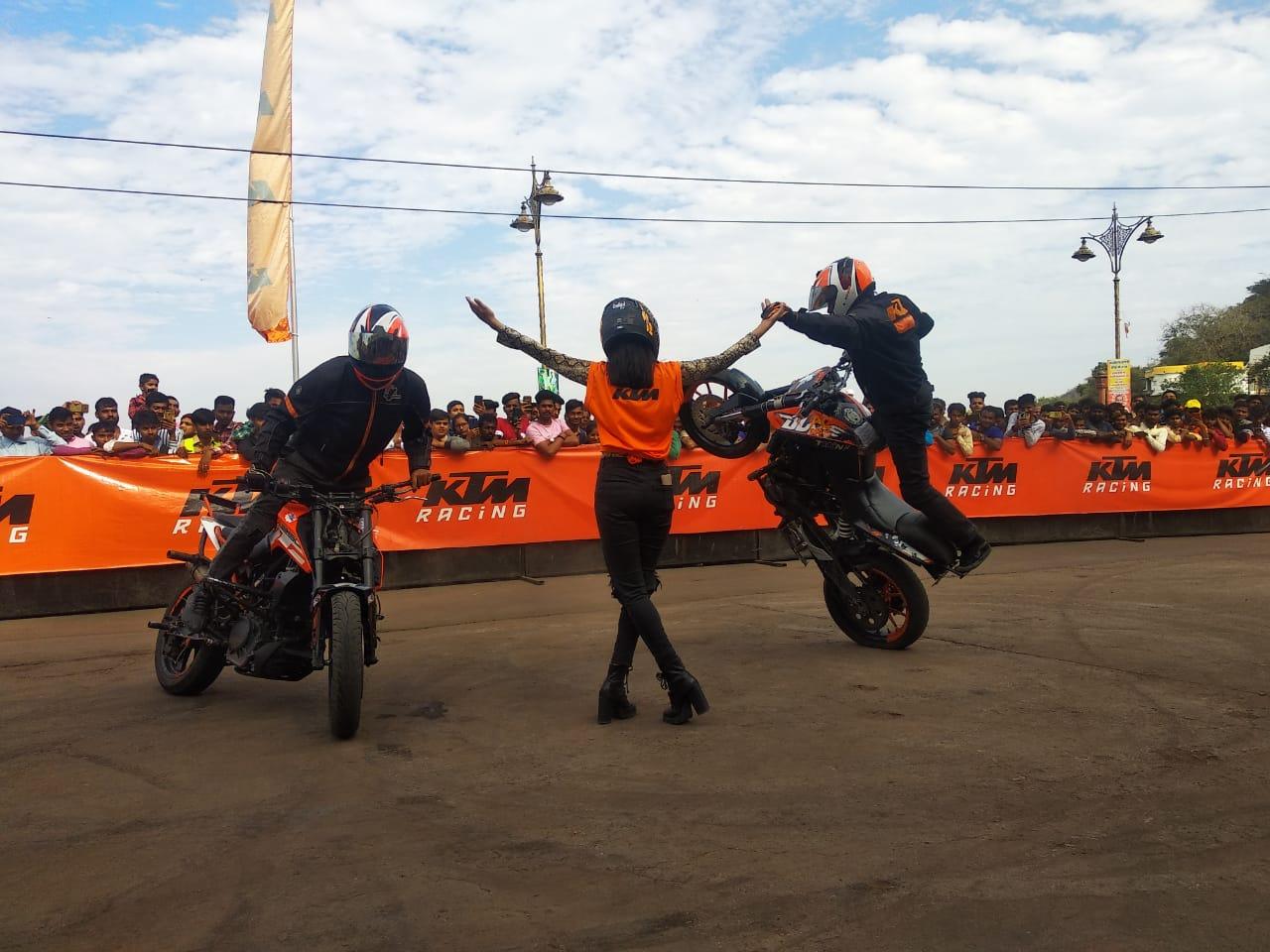 KTM organises a spectacular Stunt show in Dungarpur