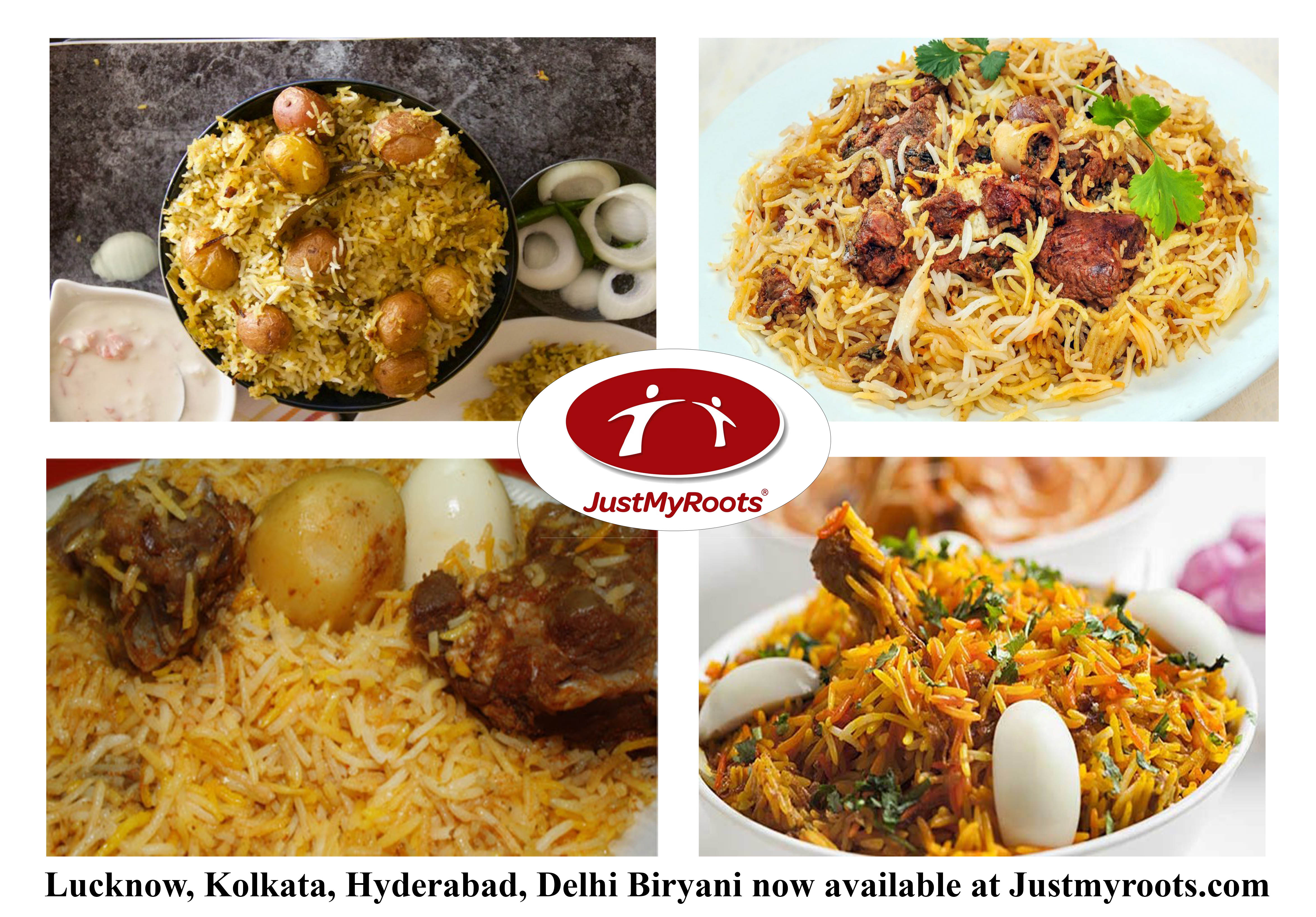 Biryani from all Gharanas ,across India, available through JustMyRoots.com