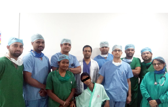 The successful operation of a substantial abdominal lump in Geetanjali Hospital