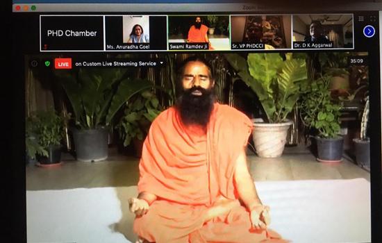 PHD Chamber of Commerce and Industry celebrate International Yoga Day with Yog Guru Swami Ramdev Maharaj