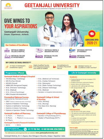 Advertisement Geetanjali University