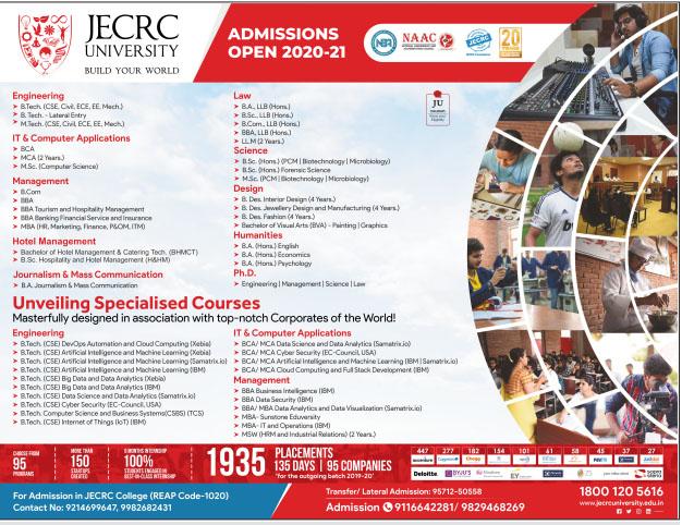 Advertisement JECRC University