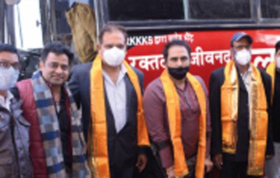 Blood donation camp organized under the joint aegis of AIJ, Earth Diagnostic, Ashoka Bakery