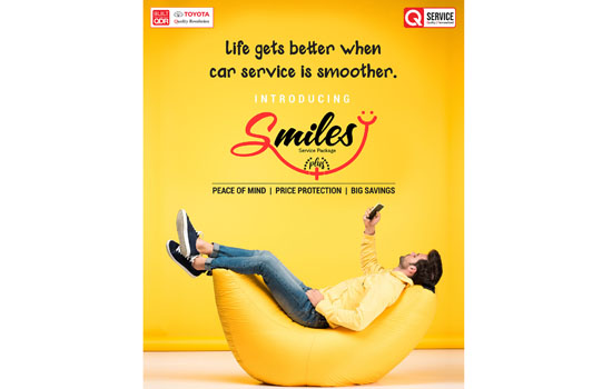 Toyota Kirloskar Motor launches all-new pre-paid service package - Smiles Plus