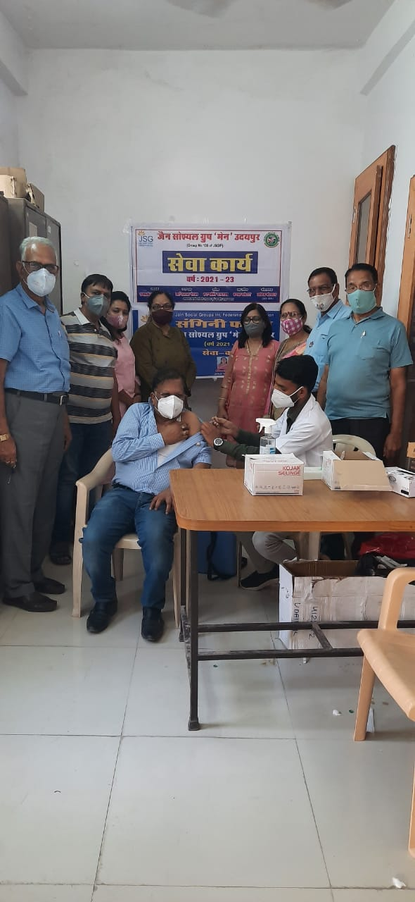 897 vaccines, seven-day camp concluded at five centers of Jain Social Group