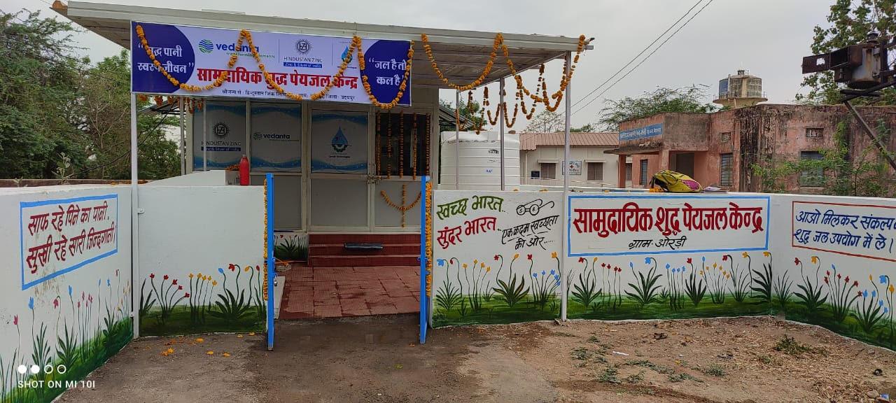 Hindustan Zinc Inaugurates 1 RO Hub plant at Ordi and 1 Water ATM at Dabok