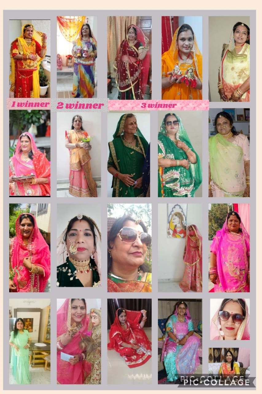 Several competitions organized in the Virtual Gangaur event