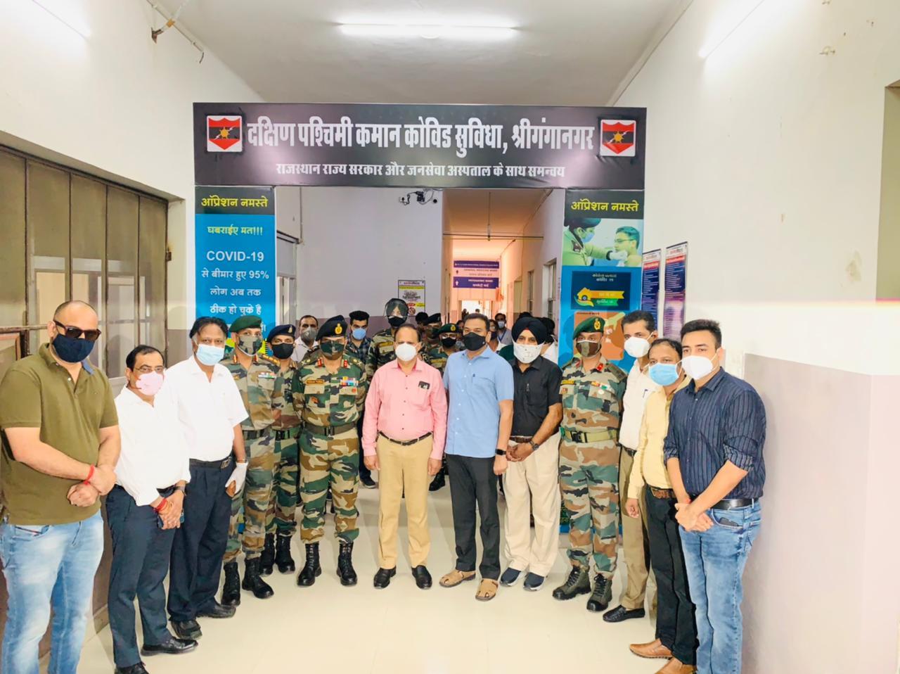 INDIAN ARMY DEDICATES 50 BED COVID FACILTY IN SRIGANGANAGAR