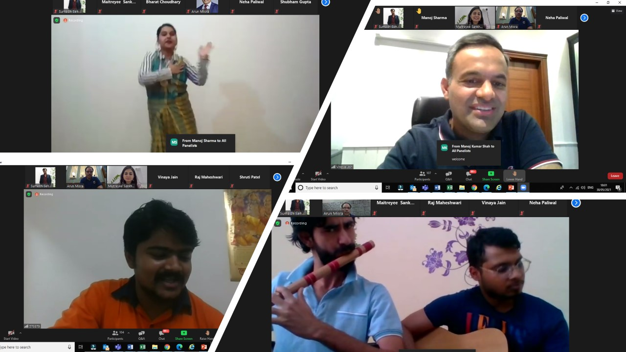 A VIRTUAL EVENING WITH EMPLOYEES TO SPREAD SMILES…