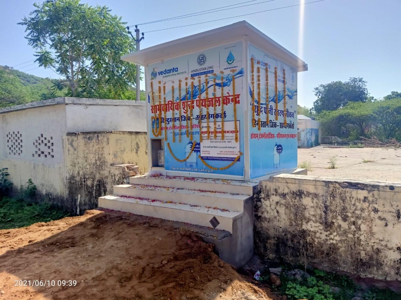 HINDUSTAN ZINC'S SMELTER AT DEBARI INAUGURATES WATER ATM AT SINGHWATON KA WADA