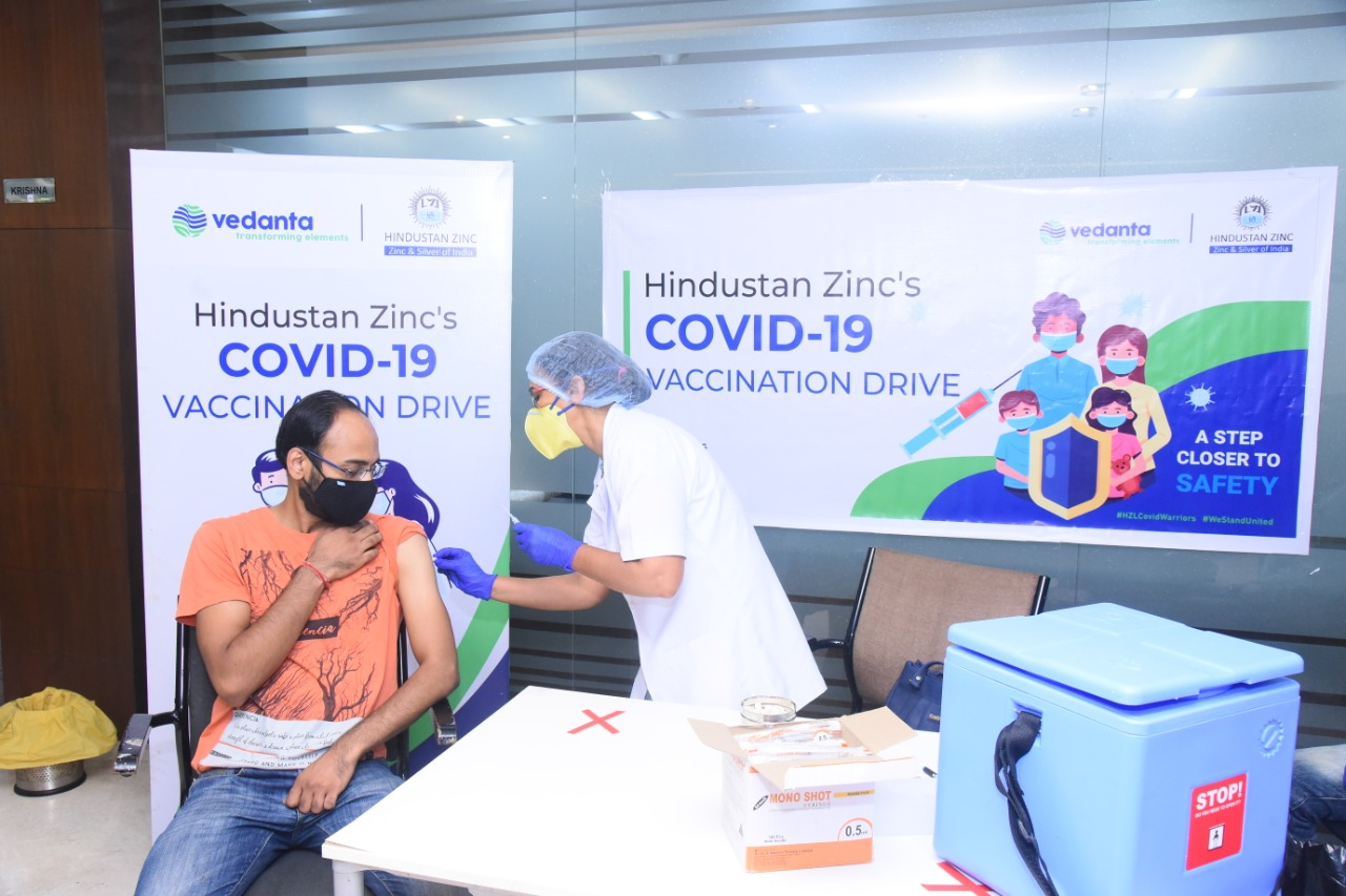 HINDUSTAN ZINC VACCINATES 20000+ EMPLOYEES, FAMILY MEMBERS AND BUSINESS PARTNERS AGAINST COVID
