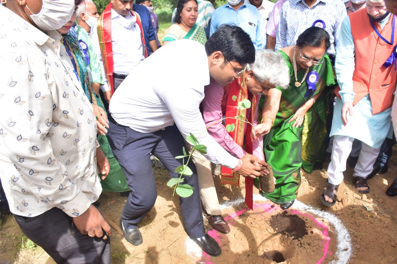 The enthusiasm showed in intensive Plantation and vaccination during the one-year tenure of Vice-Chancellor Prof Amarika Singh.