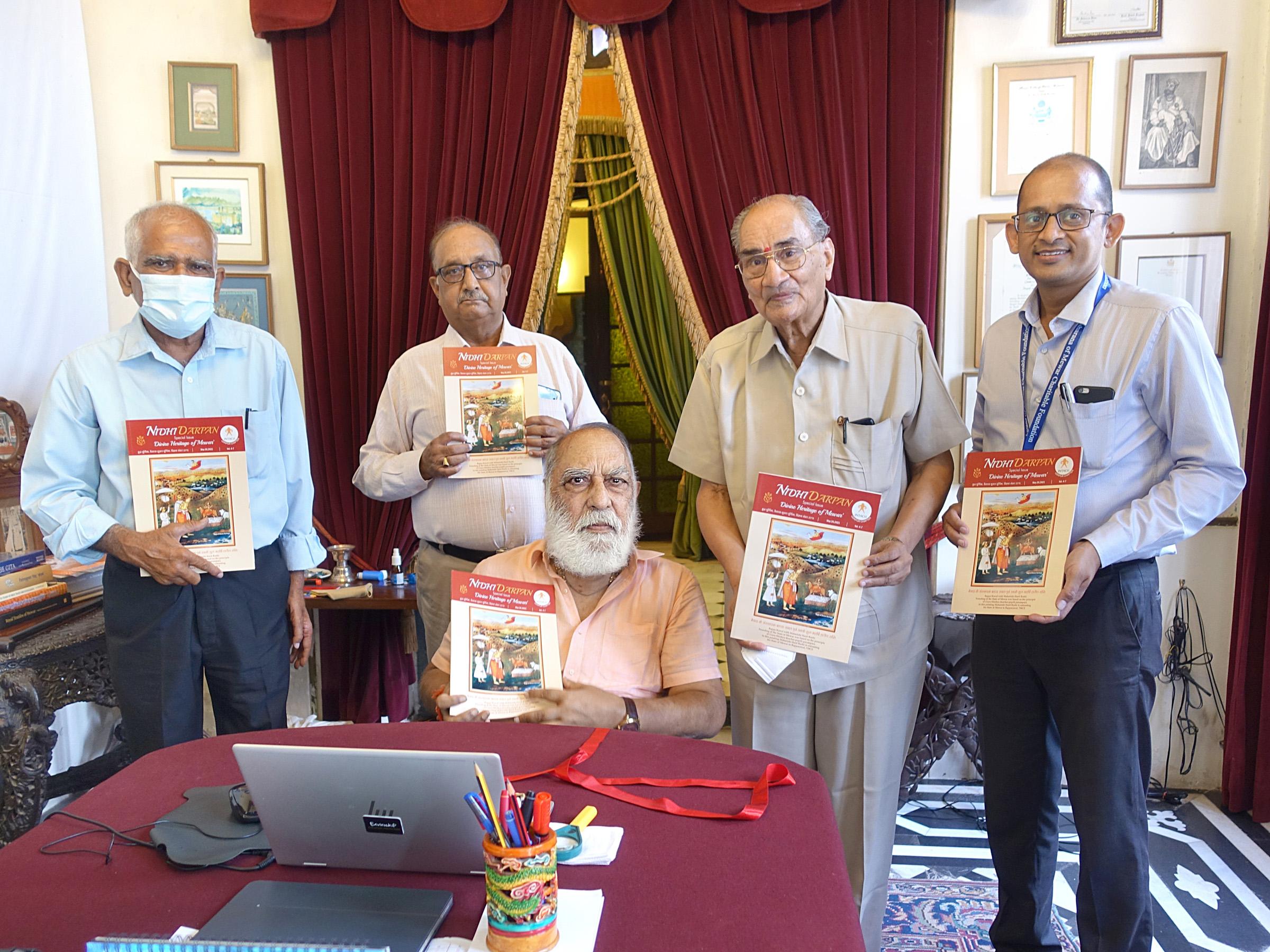 Shriji Arvind Singh Mewar released the special issue 'Divine Heritage of Mewar'