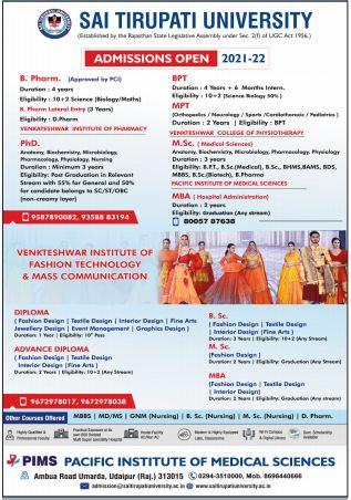 Advertisement Sai Tirupati University