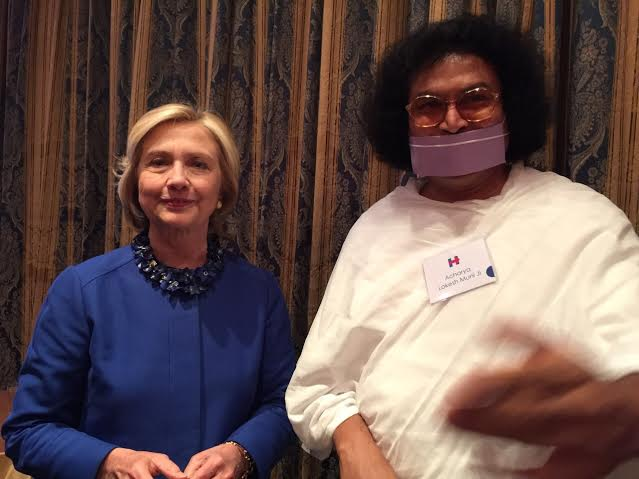 Hillary Clinton took blessings from Indian Saint