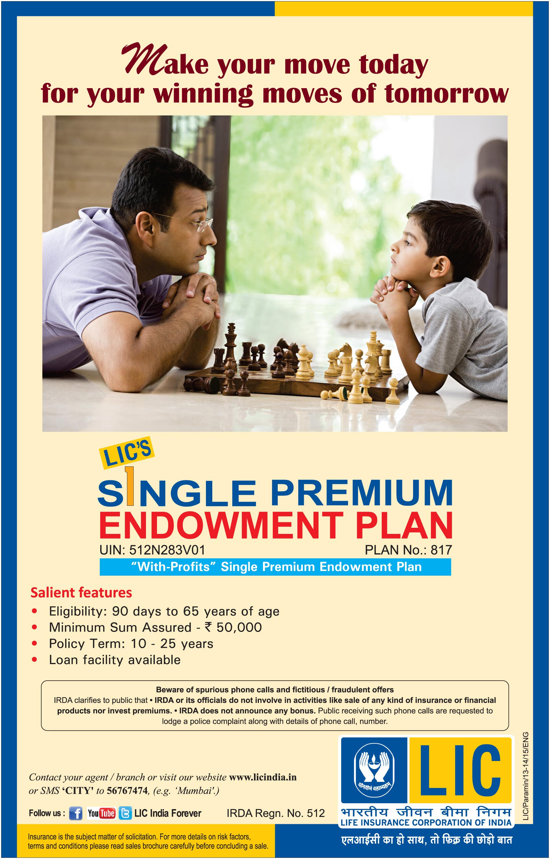 LIC_Single Premium Endowment Plan