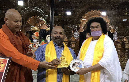 Acharya Lokesh honored with Mahakaruna Award