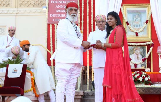 35th MMFAA : Scholars, Artists And Athletes Honoured  By Shriji Arvind Singh Mewar