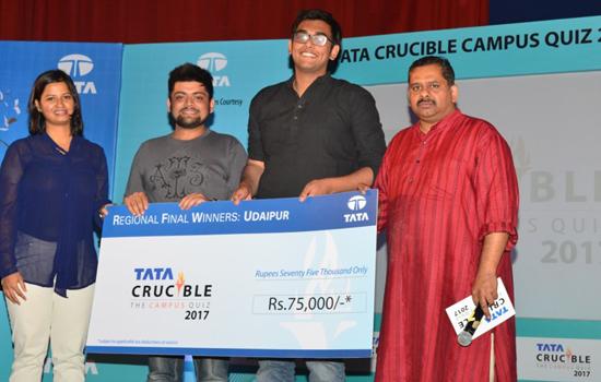 Tata Crucible Campus Quiz 2017 Udaipur regional event held