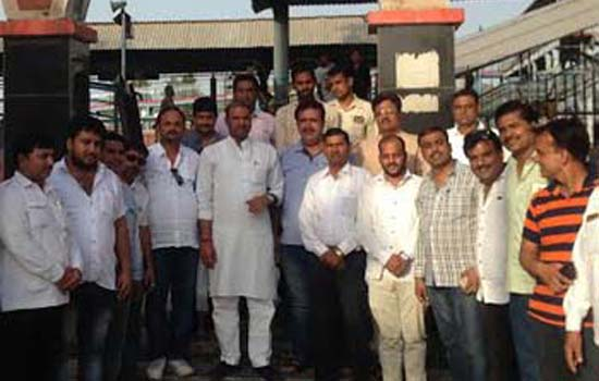 MP Joshi inspected the Chittorgarh Railway Station