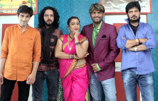 Ekta Jain, Shree Rajput and Ajay Singh at shooting of Shaadi With Jugaad