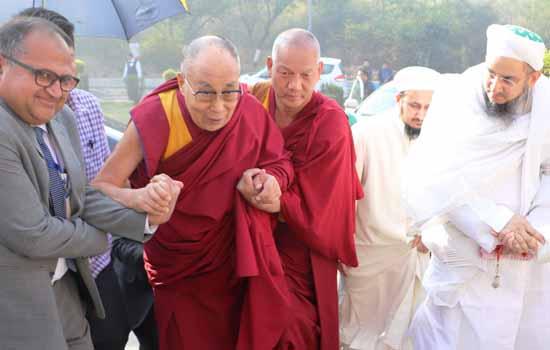 His Holiness Dalai Lama Awarded Syedna Qutbuddin Harmony Prize