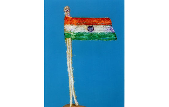 Thread Flag on Republic-Day