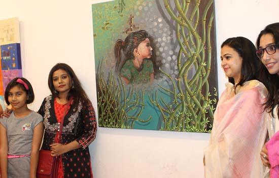 Exhibition of Women Painters  AT BAGOR KI HAVELI