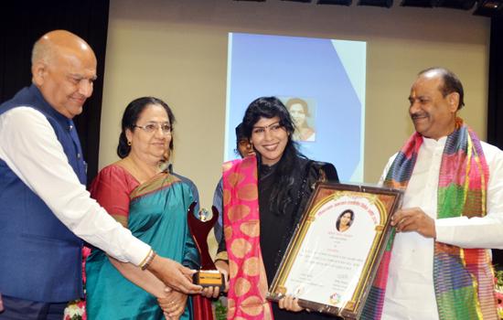 Deendayal Upadhyaya Excellence Women Award to Vandana Agrawal