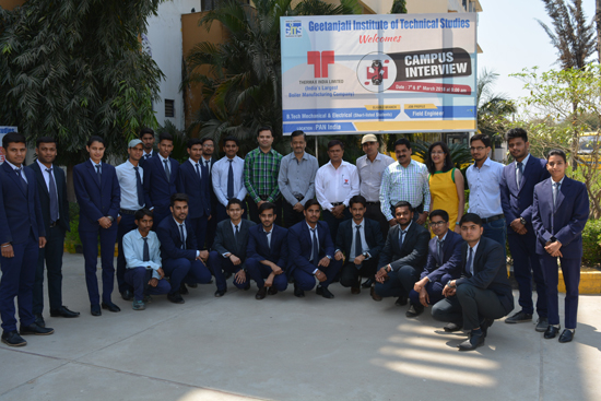 Recruitment of GITS students at Thermax India Limited