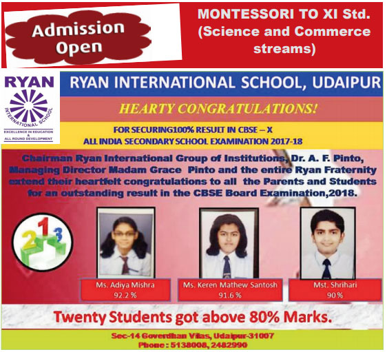 Ryan international school advertisement