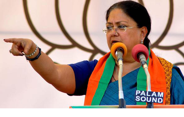 Raje In Command As Party Delays Naming State Chief
