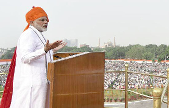 PM addresses nation from ramparts of Red Fort on 72nd Independence Day