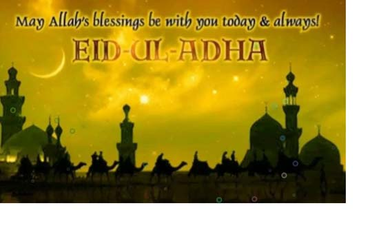 "Celebrating the Eid-Ul –Adha in the True Spirit ""Eid Mubarak"""