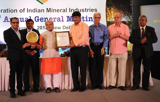 Hindustan Zinc awarded by FIMI for Sustainable Development