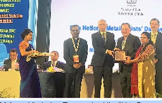Hindustan Zinc wins Indian Institute of Metals – Non-Ferrous Best Performance Award 2018