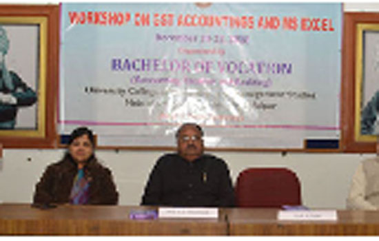 Workshop on GST Accounting and MS Excel