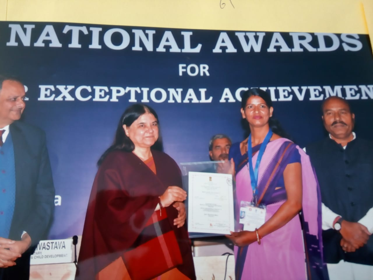 National Awards to Anganwadi Workers for Exceptional Achievements