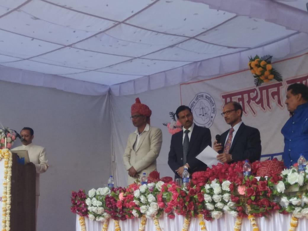 Oath ceremony of of Raj. Nyayik Kamrmchari Sangh Udaipur