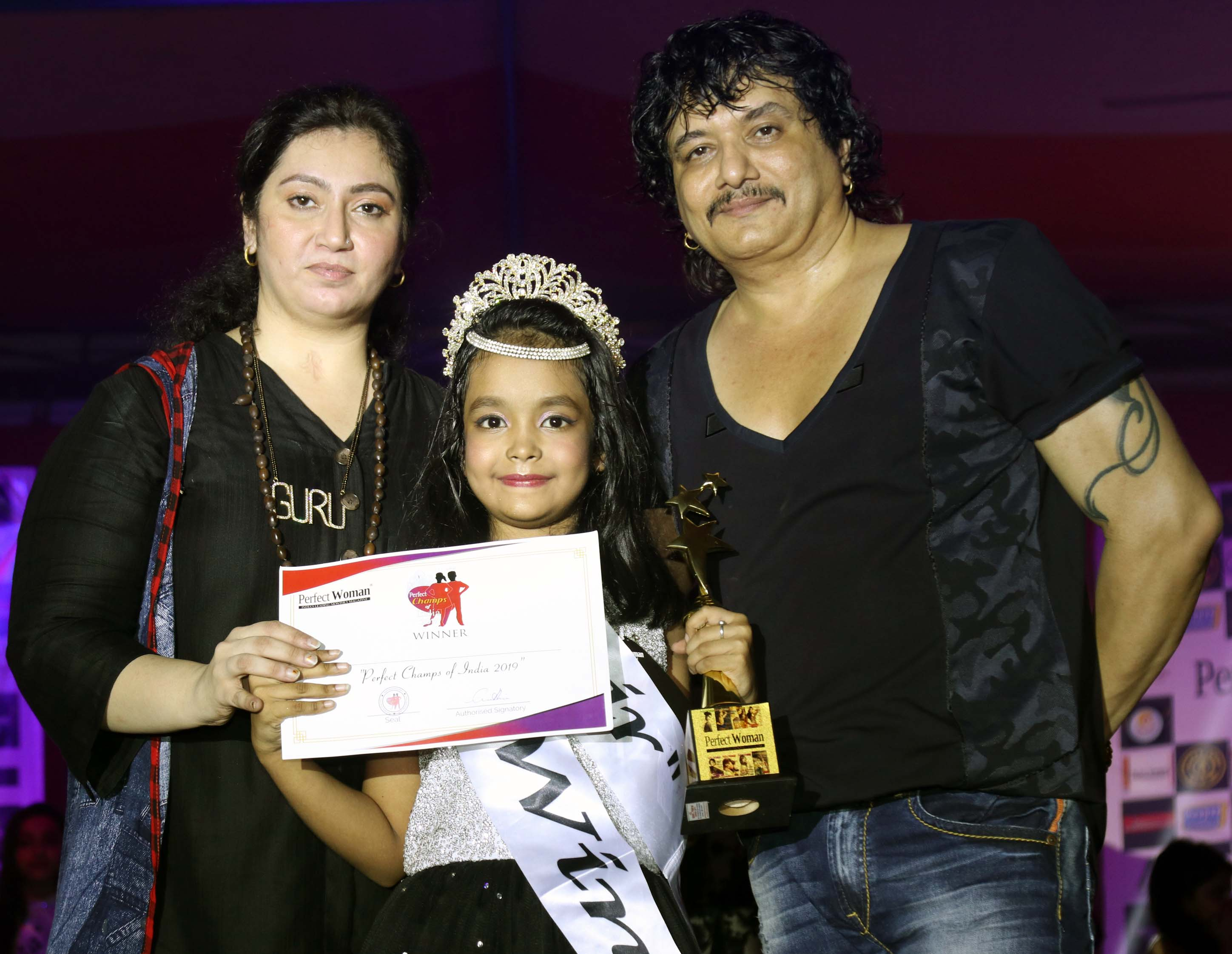 Annika Nandy and Prabuddh Hiwale became 1st Perfect Champs of India organised by Gurubhai Thakkar of Perfect Women.