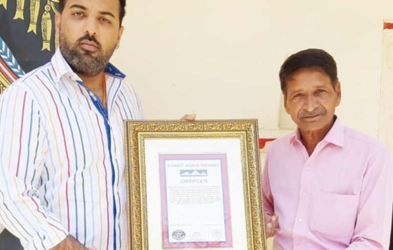 VINAY BHANAWAT MAKES NEW PHILATELY WORLD RECORD IN EVEREST WORLD RECORDS NEPAL