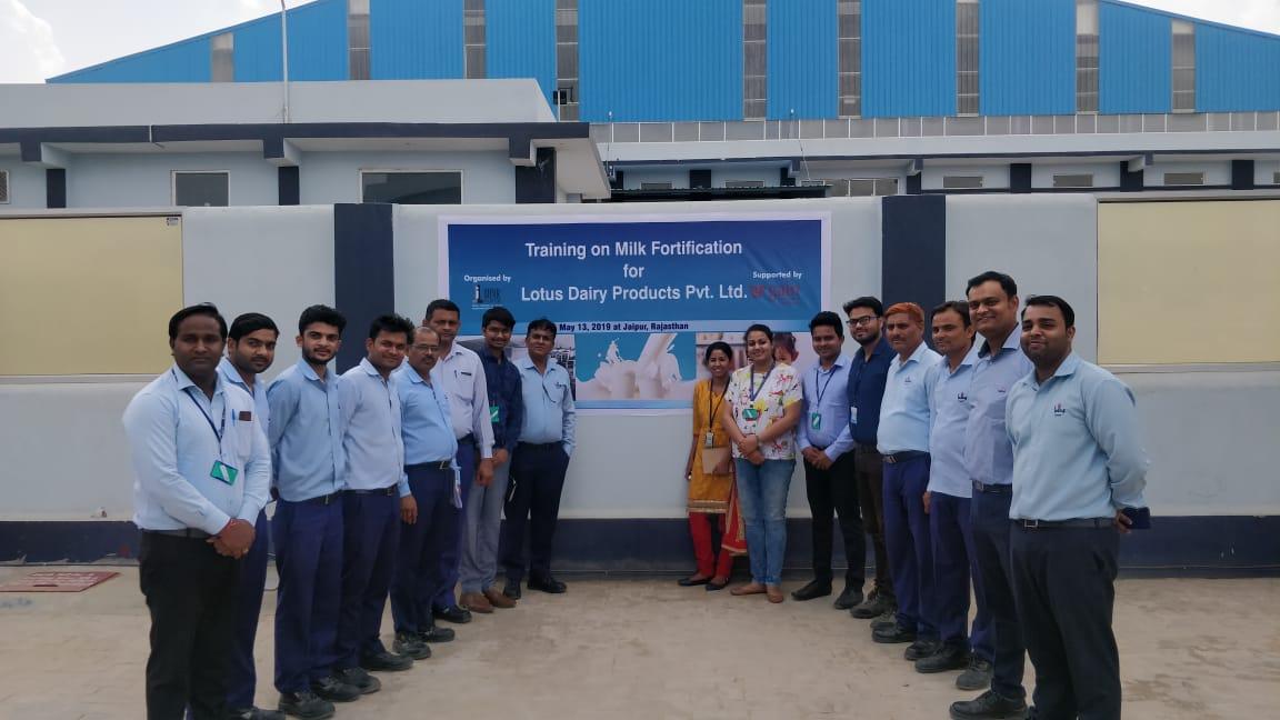 Lotus brings focus on public health, organises training session on milk fortification with IIHMR
