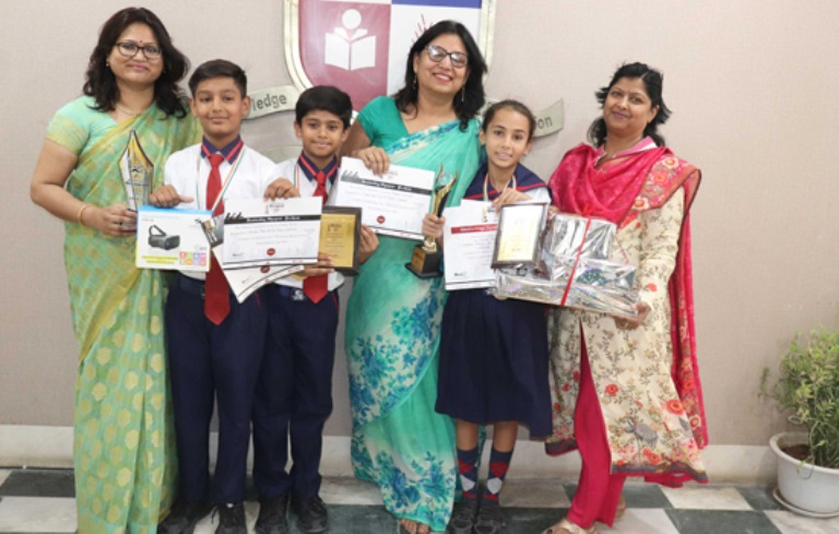 Hand Writing Olympiad Suhani of CPS wins national level