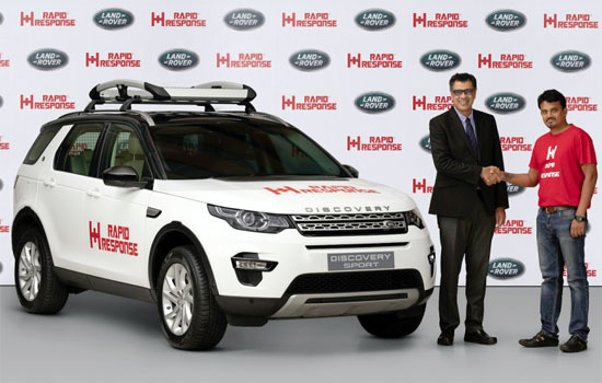 LAND ROVER OFFERS VEHICLE TO RAPID RESPONSE TO AID DISASTER RELIEF