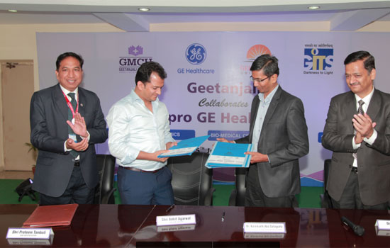 """""""Geetanjali Group enters into a collaboration with G.E. Healthcare Education Institute"""