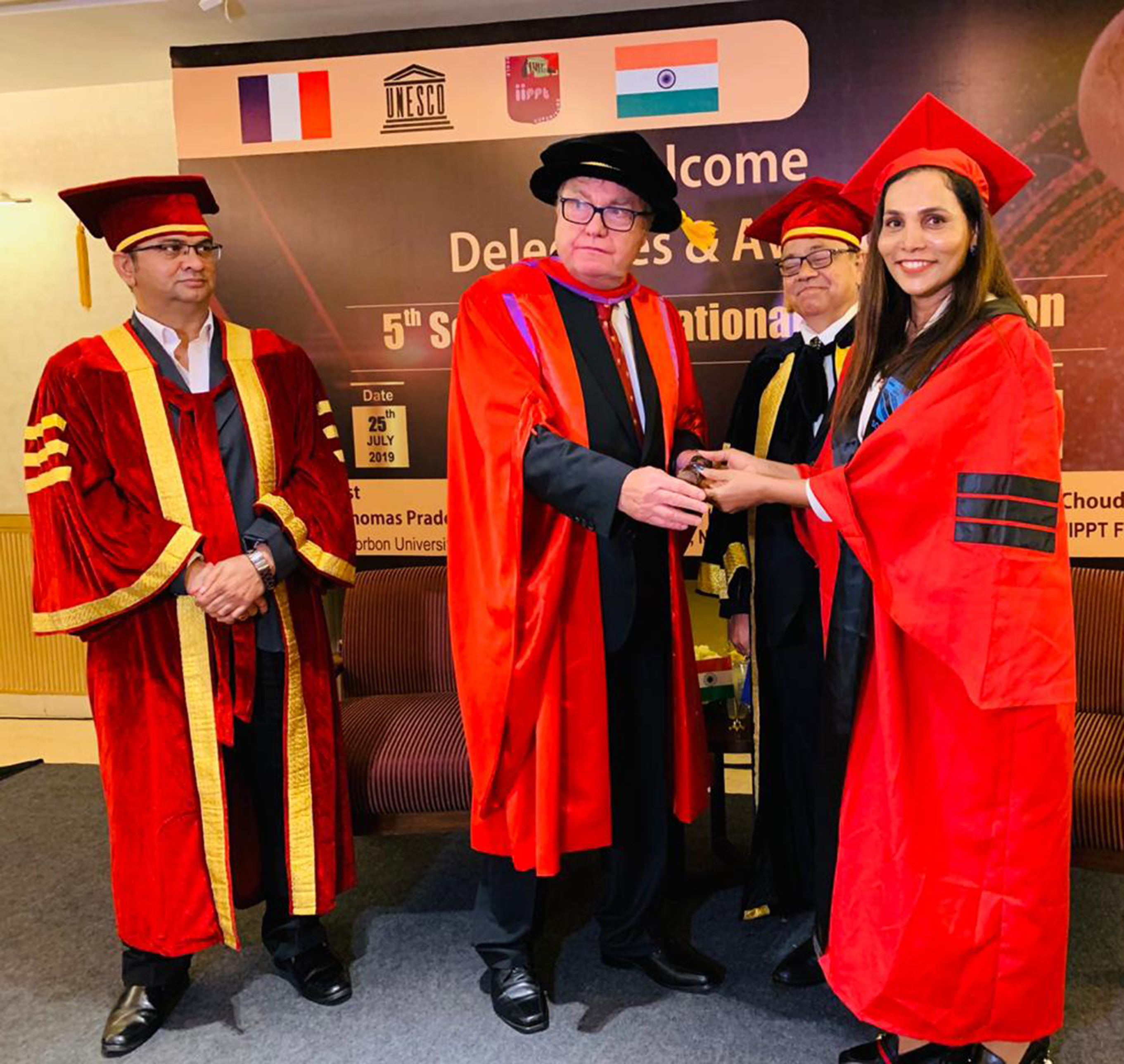 Rekha Chaudhari Awarded Philosophiae Doctor Honoris Causa by Sorbon University, France